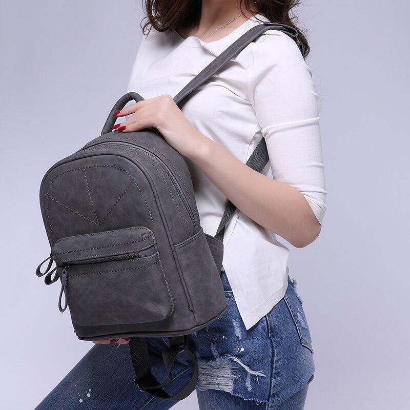 Toposhine Retro Backpack Women Pu Leather Bag Women Bag Medium Women Backpack Mochila Feminina School Bags For Teenagers 1591 #2