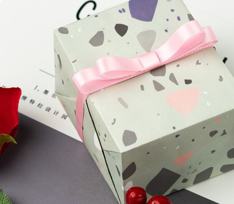 Fantasy Terrazo Gift wrapping paper 10pcs lot 60 60cm Flower Packaging Paper Book Cover Packaging Material DIY crafts supplies in Craft Paper from Home Garden