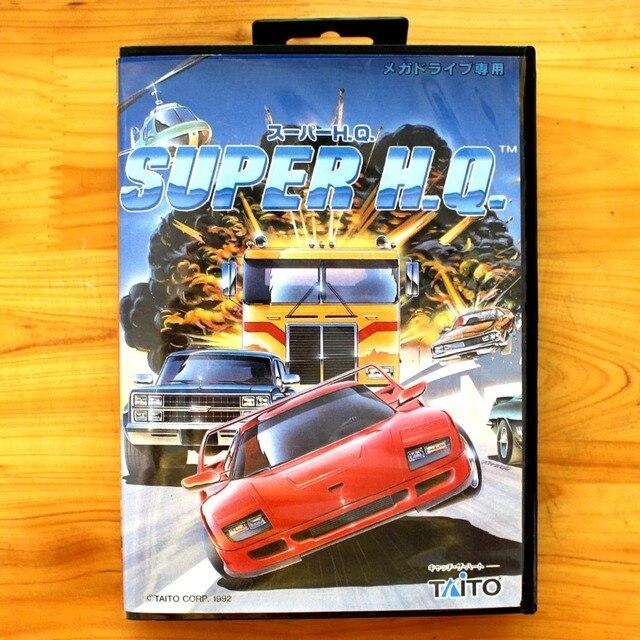 Super H Q 16 Bit Sega Md Game Card With Retail Box For Sega Mega