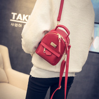 2017 Spring New College Wind Shoulder Bag Handbags Korean Mini Mini Backpack Pu Leather Simple Retro