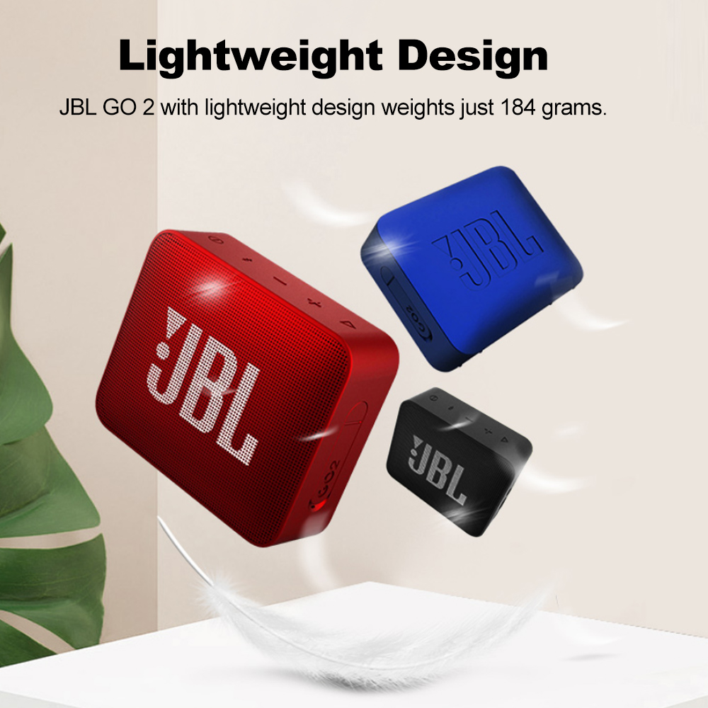 JBL GO2 Wireless Bluetooth Speaker With IPX7 Waterproof Rechargeable Battery And Mic 2