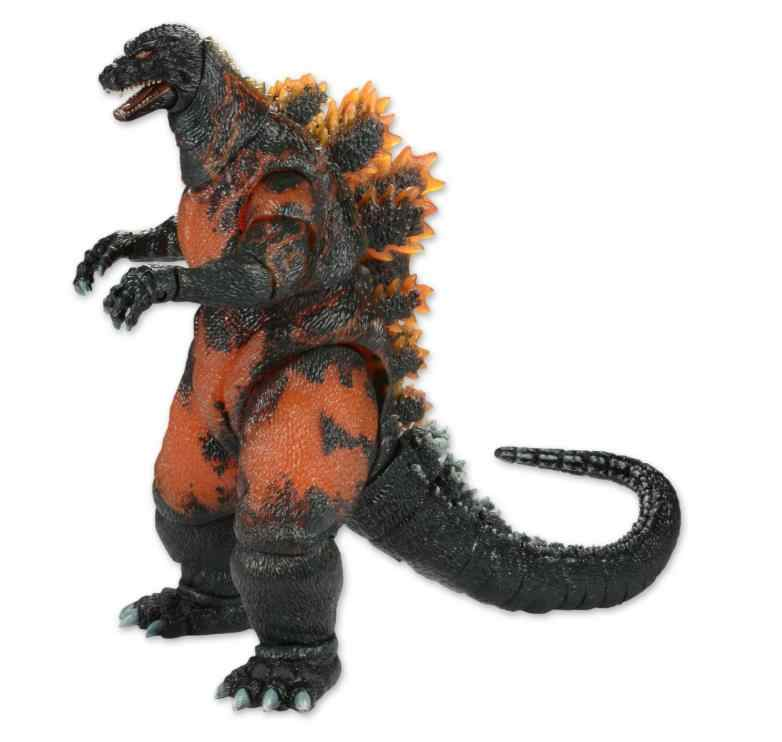 NECA Filme Gojira vs Destoroyah Queima Gojira 1995 PVC Action Figure Collectible Modelo Toy