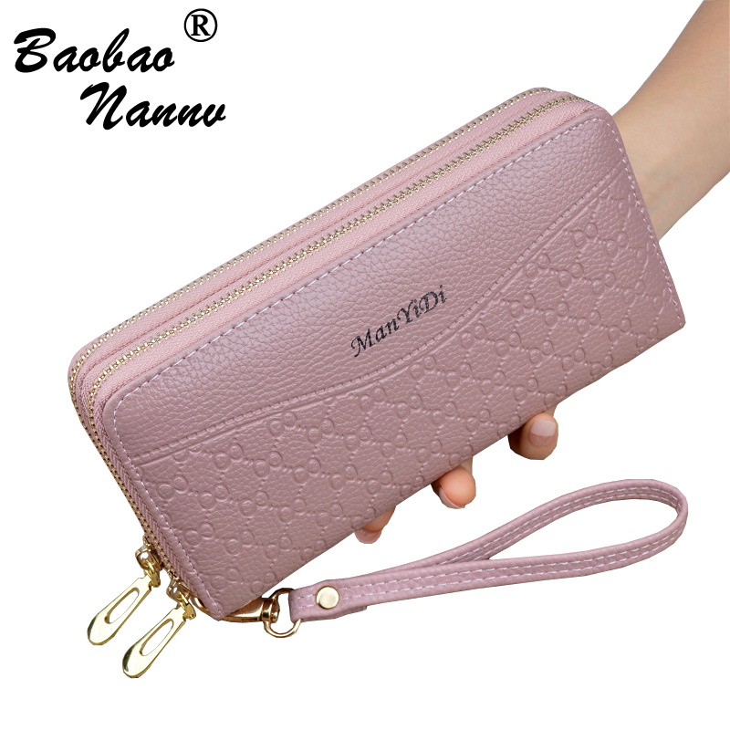 Wristband Women Long Clutch Wallet New Solid Large Capacity Wallets Female Lady Purses Phone Pocket Card Holder Double ZippersWristband Women Long Clutch Wallet New Solid Large Capacity Wallets Female Lady Purses Phone Pocket Card Holder Double Zippers