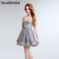 Charming Ever Pretty Cocktail Dresses 2017 With Sweetheart Zipper Sleeveless Short And Lace Prom And Party