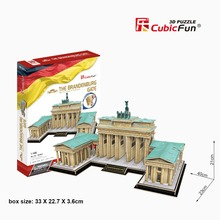 Cubicfun 3D paper model DIY toy birthday gift puzzle wolrd's great architecture Germany The Brandenburg Gate building MC207h 1pc