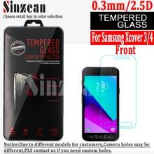 Sinzean 100 piezas para samsung Xcover 3 vidrio templado para galaxy Xcover 4 protector de pantalla (0,3mm/2.5d/9H) con caja al por menor