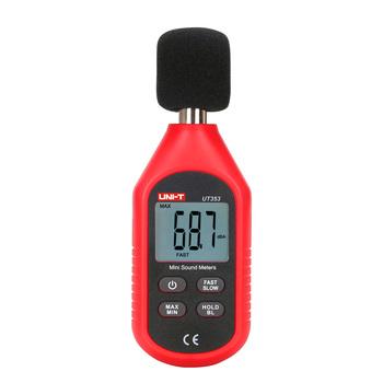 UNI-T UT353 Mini dźwięk miernik dźwigni 30 ~ 130dB wyświetlacz LCD cyfrowy hałasu przyrząd do pomiaru Tester przenośny Decibel Monitoring tanie i dobre opinie