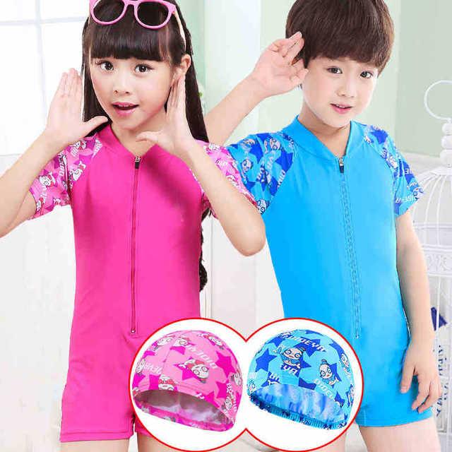 b58d09962c1a2 Child Infant Girl Baby Girl Young Flamingo Swimsuit Bikini One Piece  Swimwear Costume Beach Tunic For boys and girls