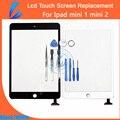 Comerciante ll venta caliente táctil de reemplazo digitalizador para ipad mini 1 mini 2 pantalla táctil del panel frontal de vidrio + pegamento adhesivo de auto-reparación