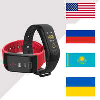 Smart bracelet Screen Waterproof F1 Plus Wristband Step Pulse Heart Rate Monitor Fitness Tracker BT 4.0 Call Reminder