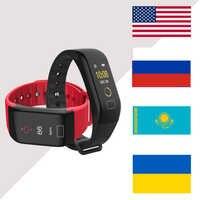 Smart bracelet Screen Waterproof F1 Plus Wristband Step Pulse Heart Rate Monitor Fitness Tracker BT 4.0 Call Reminder
