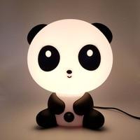 Night Lovely Sleeping Lamp Baby Room Panda Bearcat Cartoon Light Bed Lamp For Gifts EU Plug