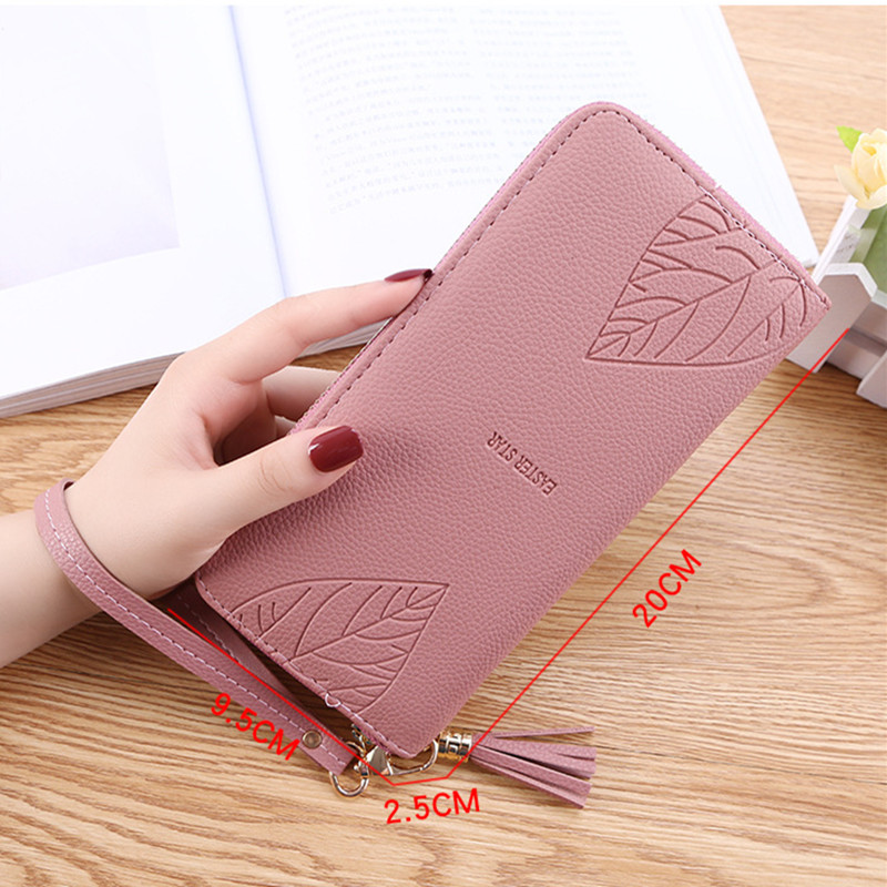 Women  Wallets  Purses Tassel Long Wallets For Ladies Girl Money Coin Pocket Card Holder Female Wallets Phone Clutch Bag 2019