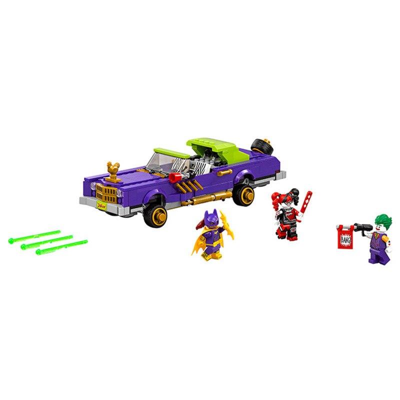 Lepin Pogo Bela 10633 Batman The Joker Notorious Lowrider Super Heroes Marvel Building Blocks Bricks Compatible Legoe Toys