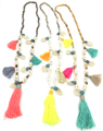 2017 fashion handmade creative tessal pendents necklace unique boho Bohemia long Necklaces sea beach shell beaded chain necklace