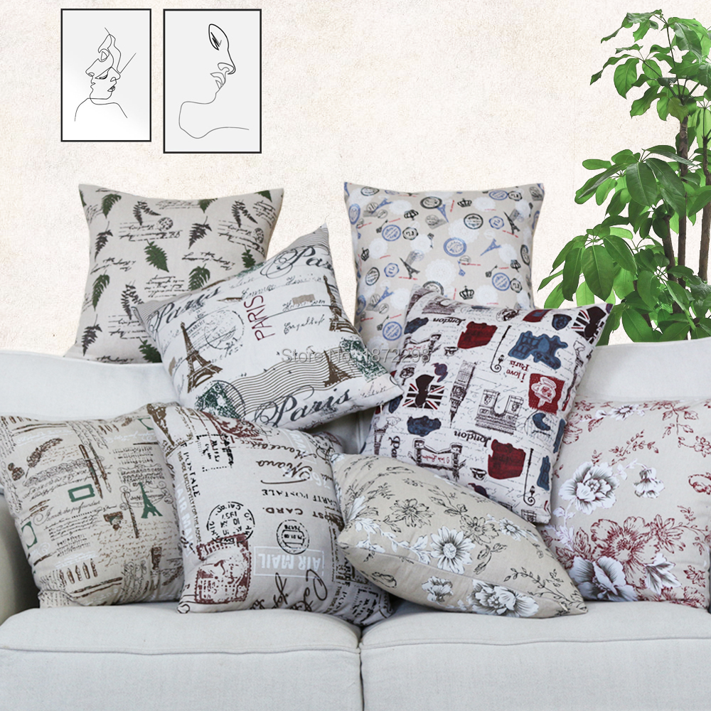 Free Shipping Custom 40/45/50/55/60/65cm Polyester  Fabric Printing  Cushion Cover No Core HT-PLCPC-01-06