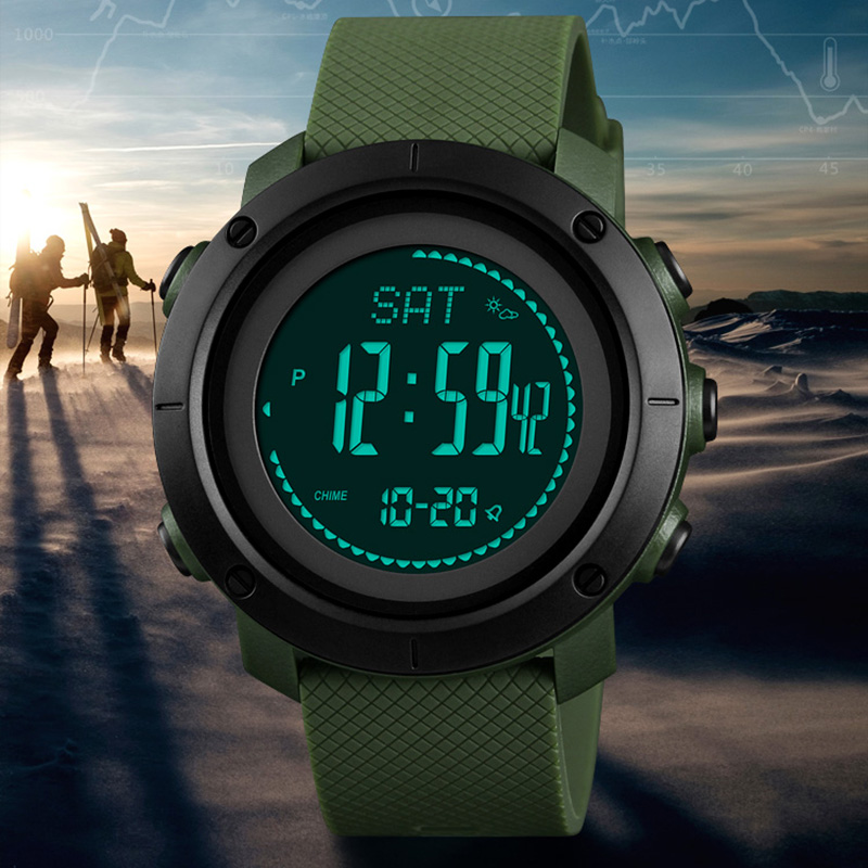 Sports Watches Men Pedometer Calories Digital Watch Women Altimeter Barometer Compass Thermometer Weather reloj hombre SKMEI sports watches men skmei brand outdoor men s digital watch hours altimeter countdown pressure compass thermometer reloj hombre