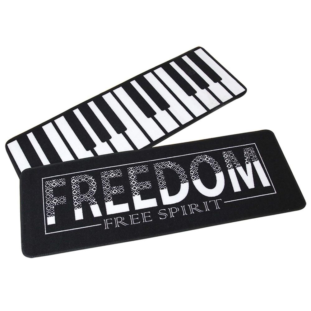 Black and White Art Carpet Piano Keys font b Runner b font Mat Rug and Carpets