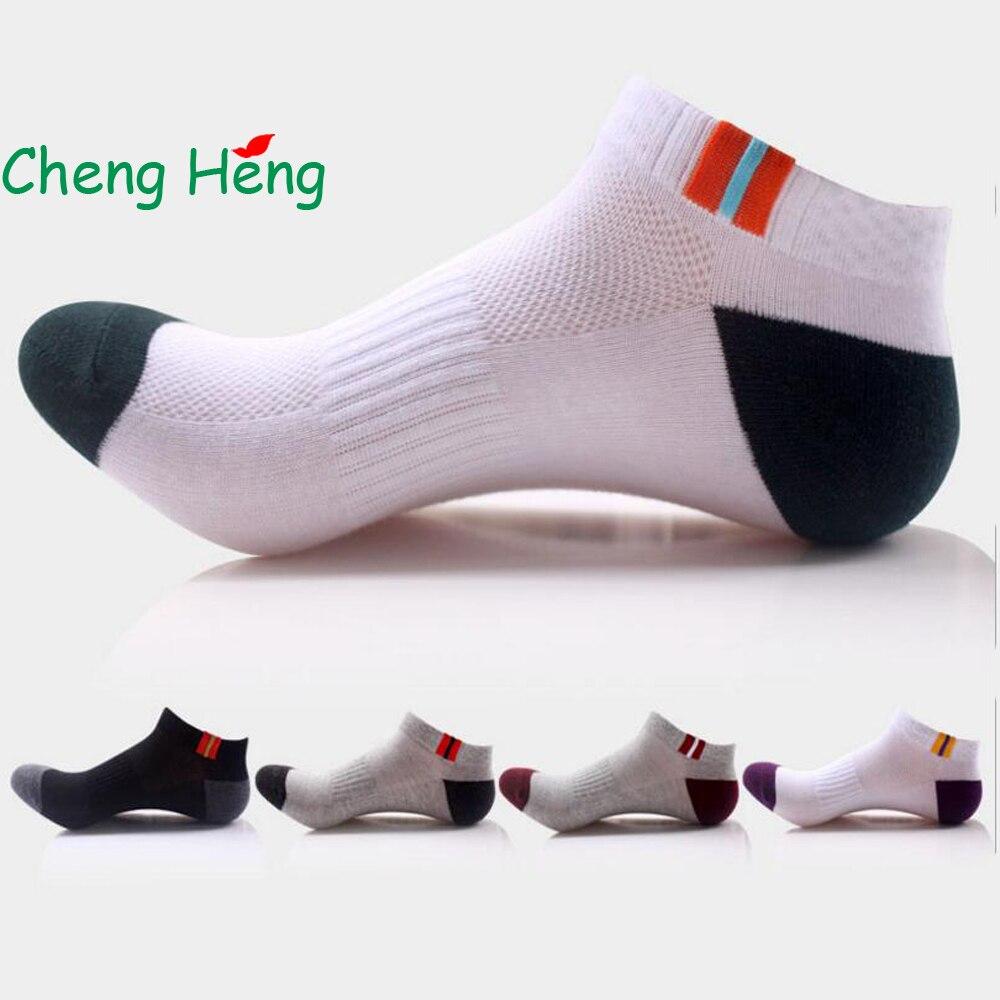 CHENG HENG 5 Pairs / Bag Sale High Quality New Style Cotton Socks Mens Socks Breathable Mesh Socks 5 Color Fashion Stitch Socks