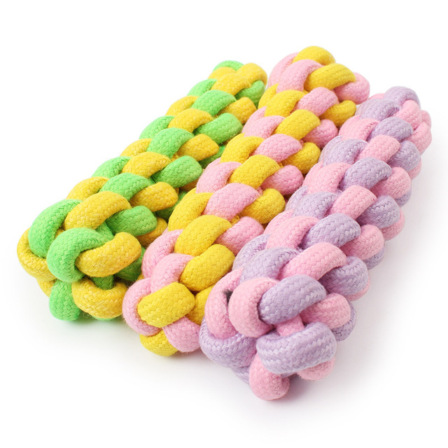 FopPet 2017 Pet Products Corn On The Cob Dog Toys Molar Teddy Cotton Rope Knot Dog Bites Golden Ball Resistant Teeth Cleaning
