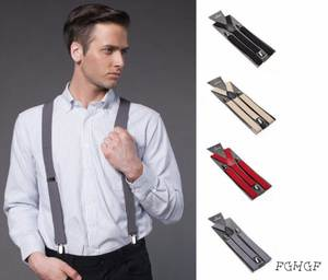 FGHGF Womens Suspenders Elastic Braces Colorful Male