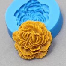 Ручной работы Пион цветок мыло силиконовые формы 3D тиснение Искусство Цветок модель свечи сделать инструмент торт формы для выпечки украшения для свадьбы