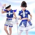 Niños Niñas danza jazz Conjuntos de ropa moderna traje de la danza de  lentejuelas niños coreano hip hop ropa etapa de rendimiento 89USD  18.67 piece 9169f5c0c64