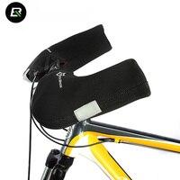 RockBros Winter Radfahren Handschuhe Winddicht Wasserdicht Warm MTB Rennrad Handschuhe Lenker Abdeckungen Fahrrad Handschuhe Guantes Ciclismo