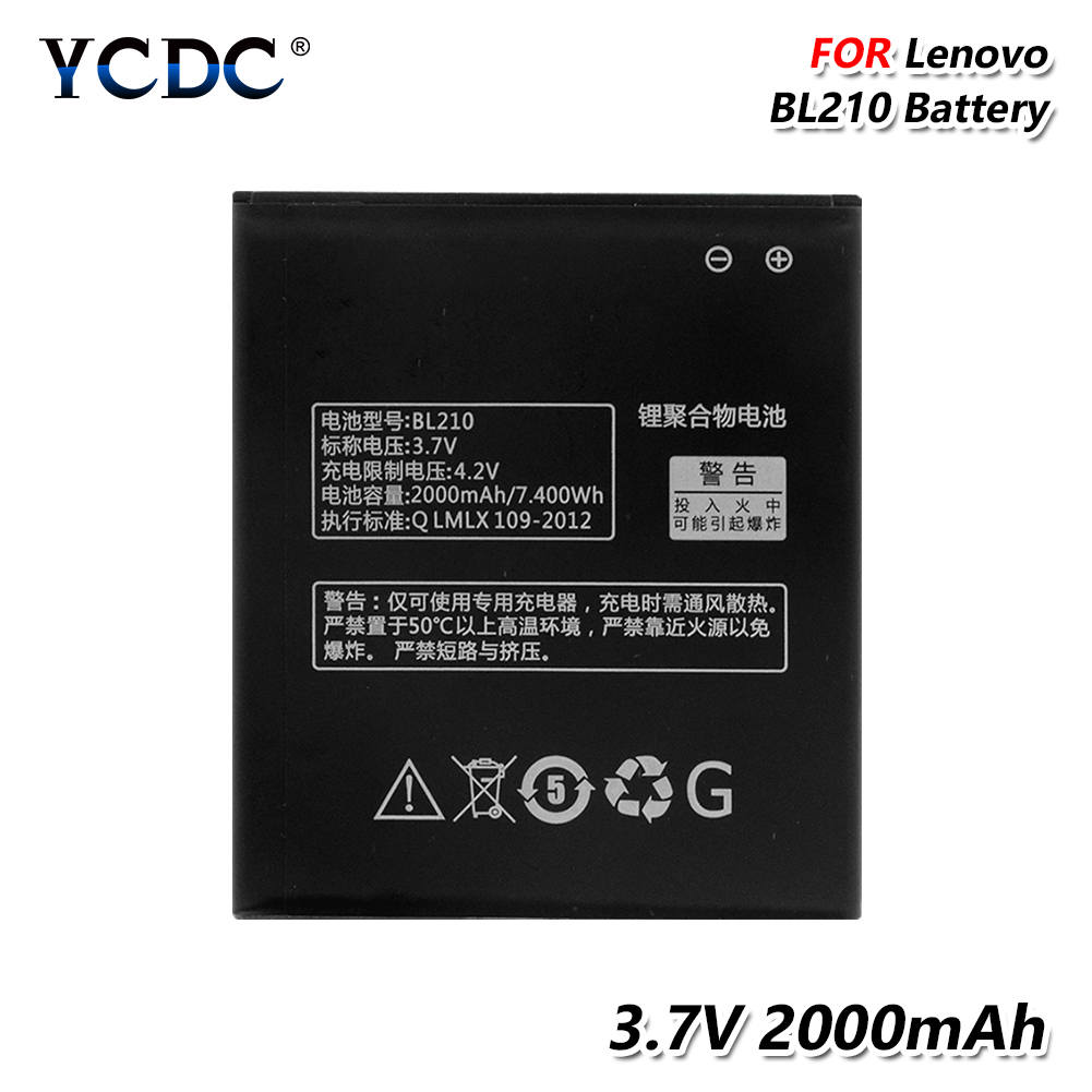 210 Battery BL-210 Lenovo S650 2000mah For S658t/A606/A536/.. Lithium-Smart-Phone