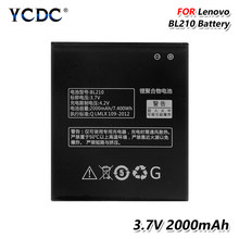 2019 Lithium Smart Phone 3.7V 2000Mah BL 210 Battery BL210 BL-210 For Lenovo S650 S658T A606 A536 A750E A770E(China)