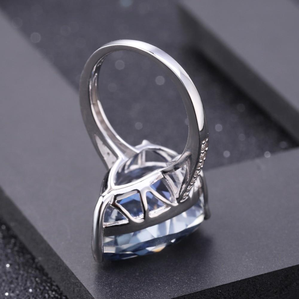 Image 4 - Женское кольцо для коктейлей GEMS BALLET, кольцо из серебра 925  пробы с натуральным иолитом и синим мистическим кварцем, 10.68CtКольца