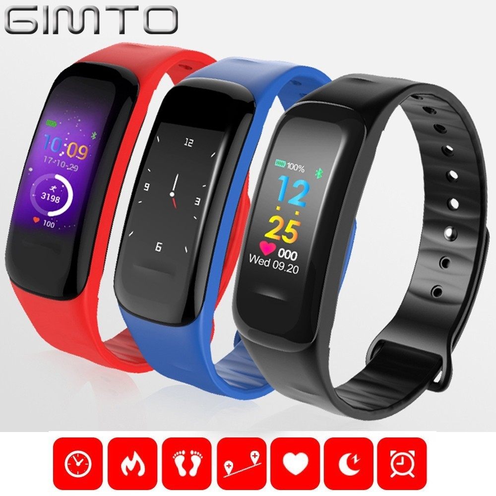 GIMTO Sports Smart Baby Watch Kids Boy Digital Children Watches Girls LED Fitness Heart Rate Blood Pressure Pedometer Bluetooth coxry fitness smart watch women digital watches blood pressure sports heart rate pedometer sleep led calorie counter wrist watch
