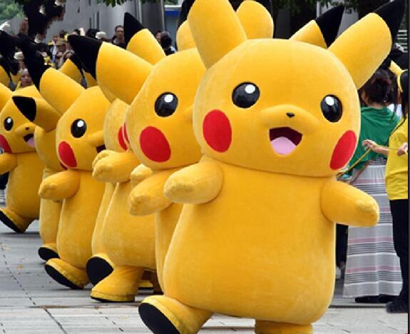 Pikachu mascot costume Fancy Dress Outfit