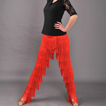 red black New tassel black latin dance pants latin Tango Dance cha cha latin dance fringe