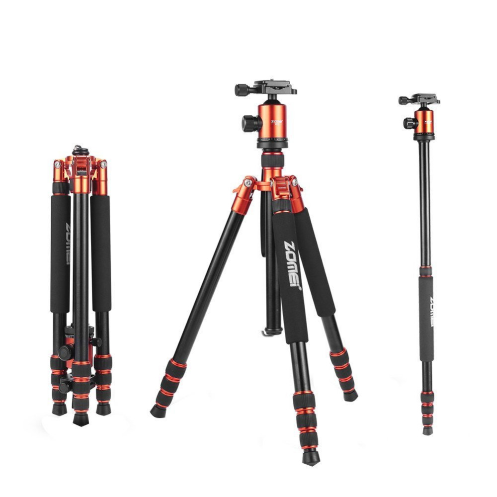 Zomei Z818 Heavy Duty Professional Portable Magnesium Aluminium Travel Tripod Stand Monopod for Digital SLR DSLR Camera Tripod цена