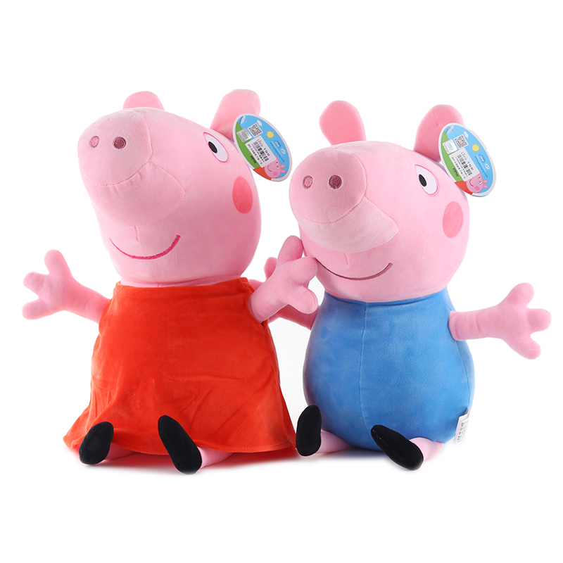 Original 19cm Peppa Pig George Animal Stuffed Plush Toys Cartoon Family Friend Pig Party Dolls For Girl Children Christmas Gift 2