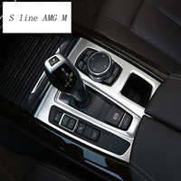 Car Styling For bmw f15 f16 Stickers Decorative Cover trim Strip for Car Control Gear Shift Panel x5 x6 Interior Accessories LHD