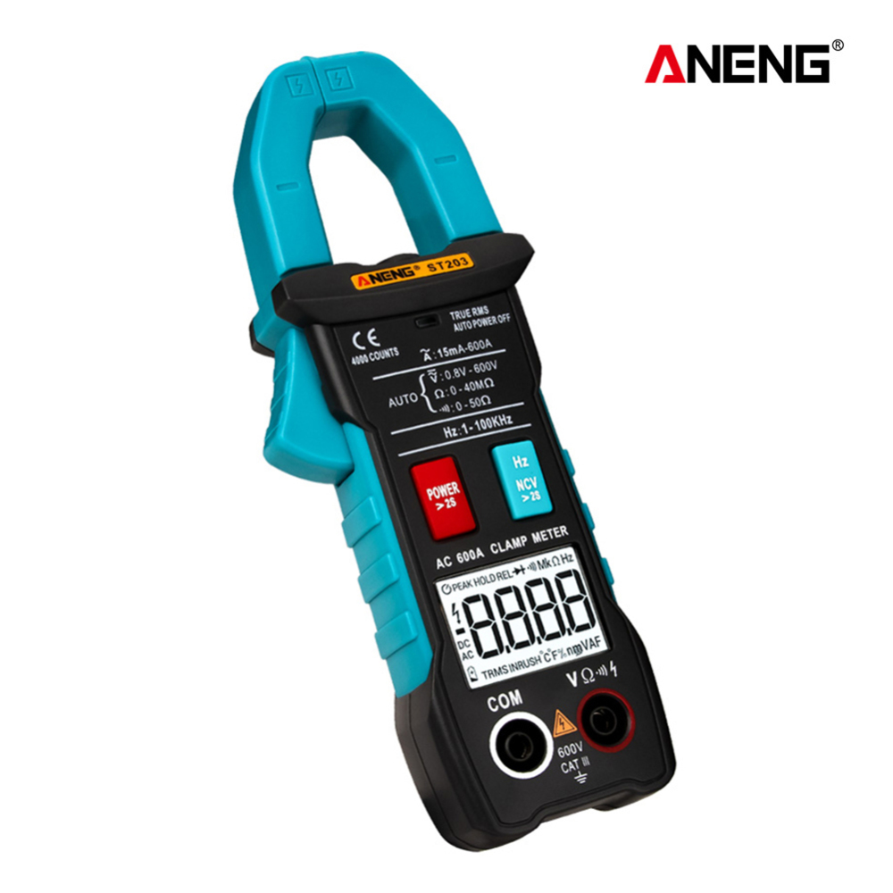 Industrial Mini DC/AC Amp Clamp Meters Voltmeter 400v Automatic Range <font><b>ST203</b></font> Digital Clamp Meter Multimeter 4000counts True RMS image
