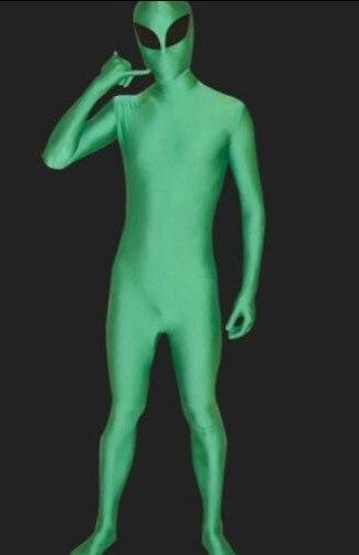 Watermonkey Brand Kids adult Alien Full Body Suit Child Green Alien Spandex Lycra Zentai Bodysuit Stage Performance Costume