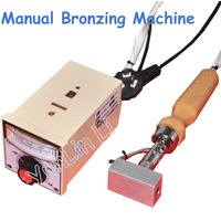 3*5cm Mini Manual Bronzing Machine 220V Hot Foil Press Stamp Recording Machine In Leather Relief LOGO Brand