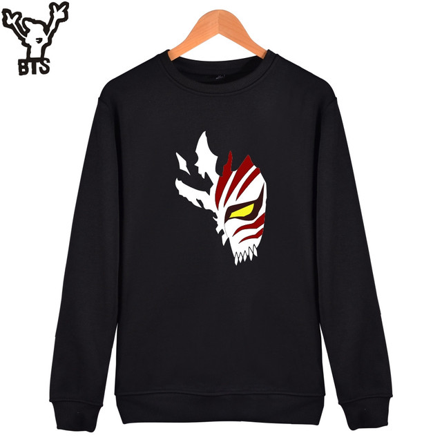 0dd70de6ed76 BTS Bleach Sweatshirt Men Hip Hop Funny Hooded Sweatshirts Streetwear Anime Long  Sleeve Mens Hoodies And