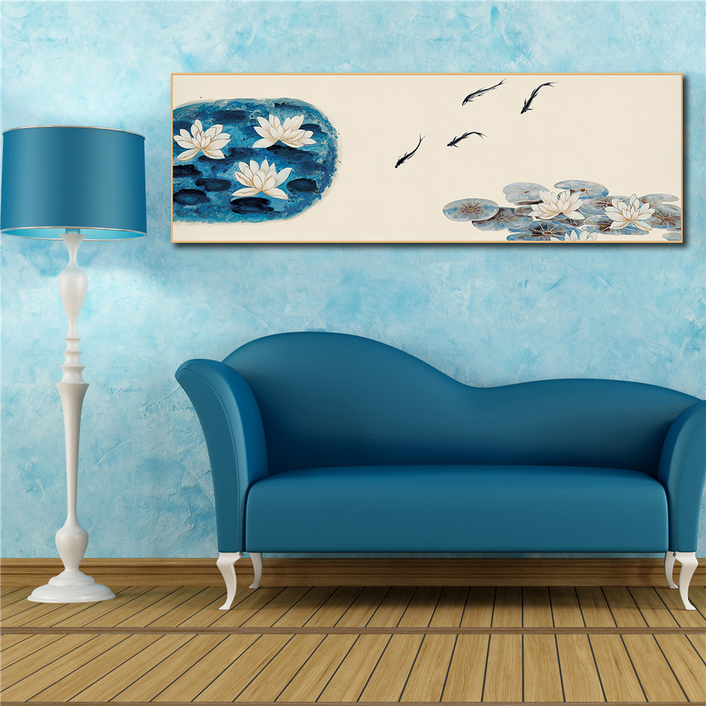 One Piece Posters Nordic Print Canvas Wall Art Chinese Rivers and Lakes Bedroom Decor Abstract Painting Living Room Decoration