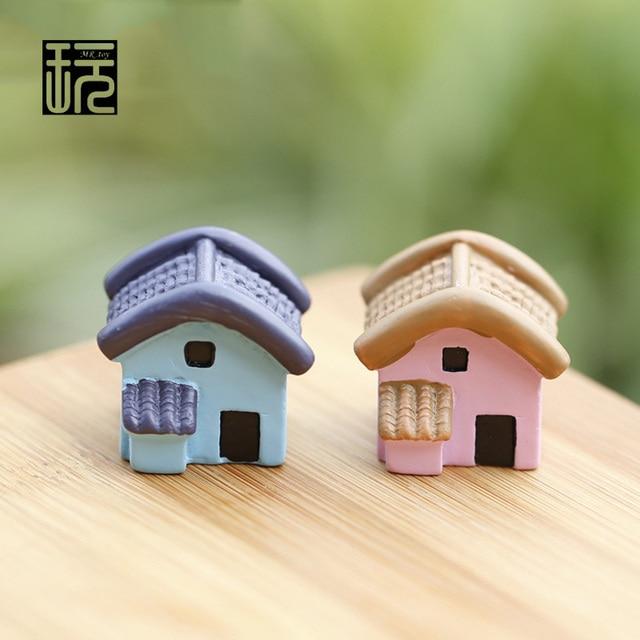 Resin Model Cute Cartoon Hut House Mini Fairy Garden Miniature DIY ...