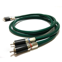 Free shipping pair FA 220 OCC red copper interconnect cable with carbon fiber RCA plug connector
