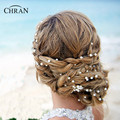 Chran Faux Pearl Head Chain Baroque Queen Silver Color Crown Tiara Wedding Bridal Headband Hair Accessories Hairpiece CRH608