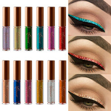 12 Colors Pearled Metallic Liquid Eyeliner Easy to Wear Shiny Diamond High Pearlescent Waterproof Liquid Eyeliner TSLM1(China)