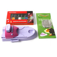 MISMXC Nail Art Printing Stamp Stamper Machine Kit DIY Nail Polish Printer Nail Design
