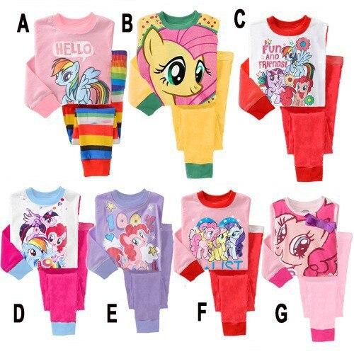 65a70851a8dd My little kids Pony pajamas 2015 New Baby Girls Cotton pyjamas Girls ...
