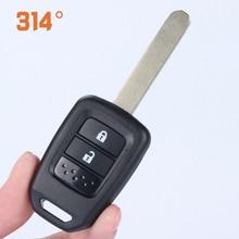 купить 2/3 Button Car Remote Control Key Shell Straight Key Metal Spare Replacement Key Suit For Honda 2015 New Fit Binzhi XR-V по цене 225.05 рублей