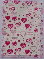 500 pçs/lote Frete grátis borboleta nó do coração do Pêssego sacos De Plástico Transportadora sacos de Embalagem sacos de compras Por Atacado 20*15 cm 015020010